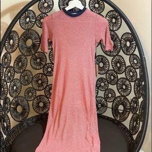 Super soft full length t shirt dress